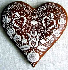 #Christmas gingerbread #cookies ToniK ℬe Meℜℜy Chocolate dipped heart beautiful