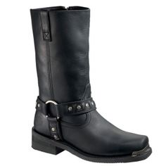 Harley Davidson Crawford Motorcycle Boots Mens Black Leather - ONLY $159.99