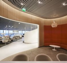 Air France Business Lounge by Noé Duchaufour-Lawrance and Brandimage