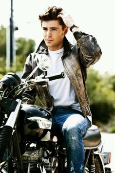 My man on a bike! Move over ladies! <3
