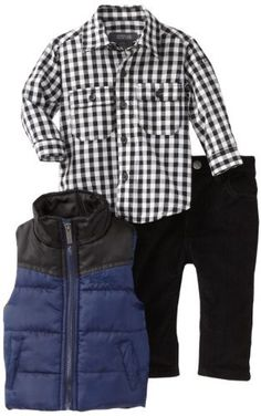 Kenneth Cole Baby-boys Infant Puffy Vest with Shirt and Jean, Navy, 12 Months Kenneth Cole,http://www.amazon.com/dp/B009YXLJZO/ref=cm_sw_r_pi_dp_QFG1qb0VJFQ88GQM