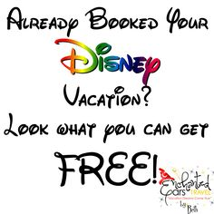 Already booked your Disney vacation? There are tons of FREE services you can get. Check it out by clicking the picture!