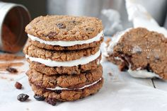 The Urban Poser:: Grain Free No 'Oatmeal' Creme Pie Cookies W/Marshamallow Cream (Egg/Dairy/Grain Free, Vegan Options)