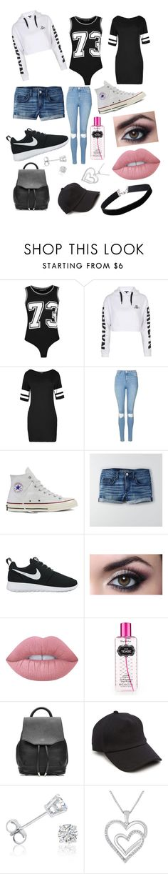 """Sportish Theme ⚽️🏀🏈⚾️"" by illy21 ❤ liked on Polyvore featuring Boohoo, Topshop, Converse, American Eagle Outfitters, NIKE, Lime Crime, Victoria's Secret, rag & bone, Amanda Rose Collection and Miss Selfridge"