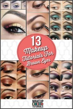 13 Of The Best Eyeshadow Tutorials For Brown Eyes - DIY Makeup Tutorials and Cool Makeup Ideas. If you have brown eyes you could definitely try out these looks to make you eyes look flawless! Best Eyeshadow For Brown Eyes, How To Do Eyeshadow, Makeup For Brown Eyes, Eyeshadow Makeup, Maybelline Makeup, Glitter Makeup, Smokey Eyeshadow, Gorgeous Makeup, Love Makeup