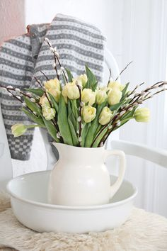 Spring ironstone pitcher