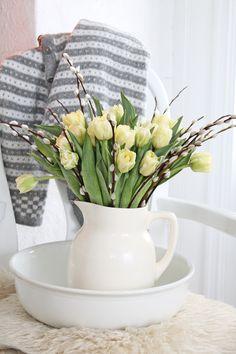 Spring ironstone pitcher