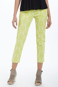 Brocade Charlie Trousers #anthropologie  Awesome pants! I think I can make these.