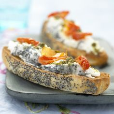 Tartines Easy Starters, Bruchetta, Potato Side Dishes, One Pot Pasta, Brunch Recipes, Finger Foods, Easy Meals, Food And Drink, Cooking