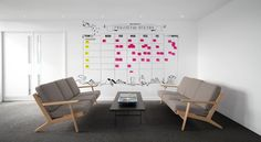 AKQA project status board  AMOS and AMOS | DESIGN + INTERIOR ARCHITECTURE