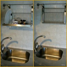 This would solve the problem, maybe 2 or 3 for all the dishes. Maybe inside a cabinet so you do not see it all the time. How much would it cost? Wall mounted IKEA dish rack