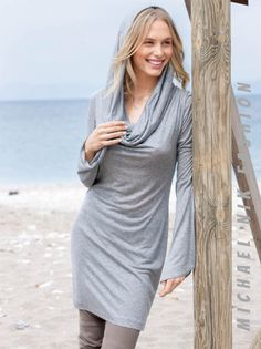 A personal favorite from my Etsy shop https://www.etsy.com/listing/256269692/hooded-cowl-neck-dress-long-sleeve-all