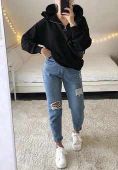 Trendy Fall Outfits, Basic Outfits, Teen Fashion Outfits, Mode Outfits, Cute Casual Outfits, Simple Outfits, Pretty Outfits, Stylish Outfits, Street Looks