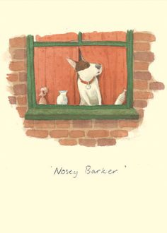 IA50 NOISEY BARKER by Alison Friend - A Two Bad Mice Greeting Card