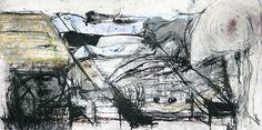 Estudo para composição abstrata. Monotipia guache, carvão, grafite e óleo sobre papel offset 240. 24,5x48cm. 2016. #arte #art #monotipia #monotype #guache #carvao #gouache #charcoal #abstrato #abstract #art #print #expressionismo #expressionism #colagem #collage #oleo #oil #grafite #graphite