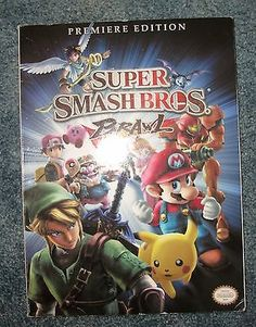 2008 Premiere Edition SUPER SMASH BROS BRAWL Book Official Nintendo Guide Cheat - http://video-games.goshoppins.com/video-game-strategy-guides-cheats/2008-premiere-edition-super-smash-bros-brawl-book-official-nintendo-guide-cheat/