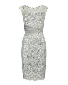 Anthea Crawford $699......Diamond Sequin Lace Dress With Waist Sash