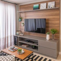 Amazing Modern TV Wall Decor Idea for Living Room Design Look Luxury - Istri Sholehah Home Living Room, Interior Design Living Room, Living Room Decor, Small Living Rooms, Living Room Tv Unit Designs, Tv Wall Decor, Home Decor Furniture, Furniture Online, Wooden Furniture