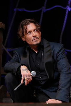 """Johnny Depp Photos - Johnny Depp attends the Japan Premiere of """"Pirates Of The Caribbean: Dead Men Tell No Tales"""" at the Shinagawa Prince Hotel on June 20, 2017 in Tokyo, Japan. - 'Pirates Of The Caribbean: Dead Men Tell No Tales' Japan Premiere"""