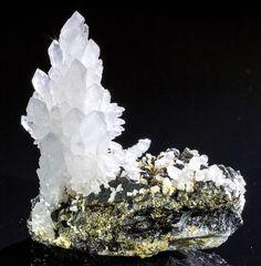 Aesthetic Quartz Sprays on Pyrite - Mineral Specimen from Romania