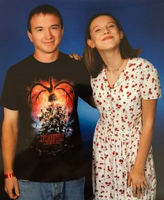 Millie Bobby Brown and a fan