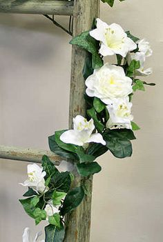 White Artificial Lily and Gardenia Garland