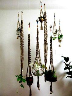 vintage macrame hangers