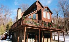 Chalet vacation rental in Seven Springs....wild fun with some Transcare friends
