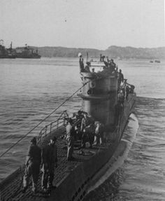 The German departing Saint-Nazaire, France, circa The submarine was sunk in 1942 by aircraft fire after attacking and sinking the Nicaraguan freighter Bluefields and two other ships off North Carolina. (Credit: With permission from Ed Caram) North Carolina Coast, Costa, German Submarines, Armada, Battleship, World War Two, Wwii, Underwater, Photos