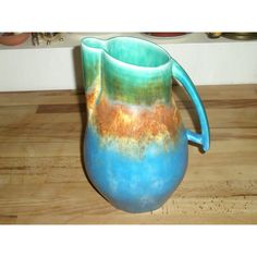 Stunning Large Art Deco Multicoloured Jug Listing in the Art Deco 1920-1939,Date-Lined Ceramics,Porcelain, Pottery & Glass Category on eBid United Kingdom