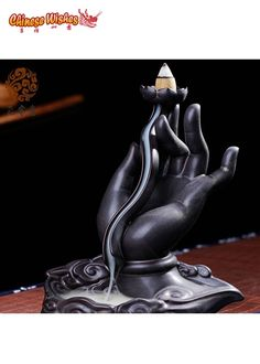 Buddha's Hand Backflow Incense Burner--$43.95                                                                                                                                                     More