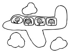 Preschool Coloring Pages Transportation Airplane | Baby Quilts ...