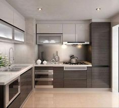 Here are the Popular Modern Kitchen Cabinets Design Ideas. This article about Popular Modern Kitchen Cabinets Design Ideas was posted … Kitchen Room Design, Kitchen Cabinet Design, Home Decor Kitchen, Interior Design Kitchen, Kitchen Ideas, Kitchen Inspiration, Diy Kitchen, Kitchen Hacks, Kitchen Trends
