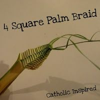 Four Square Palm Braid {Passion / Palm Sunday} - Catholic Inspired