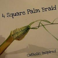 Four Square Palm Braid {Passion / Palm Sunday} - Catholic Inspired