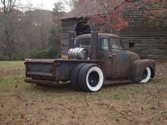 Outlawed Restorations dually and widened five window chev chevy chevrolet advanced design pickup truck ratrod rat rod daily driver jalopy. Rat Rod Cars, Hot Rod Trucks, Cool Trucks, Cool Cars, Rat Rods, Rat Rod Pickup, Old Pickup Trucks, Chevy Trucks, Dually Trucks