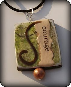 100 Days of Polymer Clay Ideas GREAT ideas here. This pendant is one of them