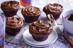 Egg free for me! Treat yourself, and the family, with these egg-free chocolate muffins. Mini Muffins, Egg Free Muffins, Chocolate Muffins, Chocolate Cupcakes, Chocolate Icing, Dark Chocolate Recipes, Chocolate Treats, Egg Free Recipes, Muffin Recipes