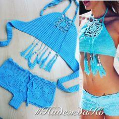 Comprar top de malha maiô e bermuda croché - conjunto tricô, maiô de malha, gancho roupa de banho - / Buy knitted swimsuit top and shorts crochet - knit together, knit swimsuit hook swimwear -