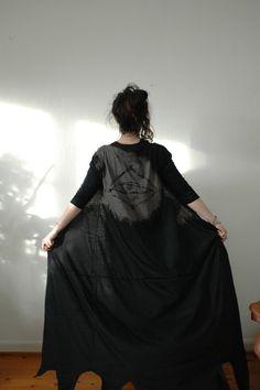 Augury Kaftan // Pure Black and Heather by raintower on Etsy, $73.00