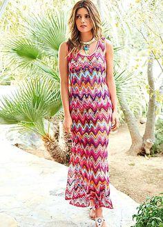 Crochet Zig Zag Dress  #PackingForMe #Kaleidoscope #Summer #Holiday