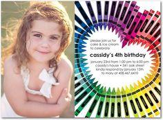 art birthday invitation
