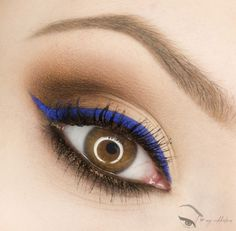 'Classic With A Touch Of Cobalt' created by ilovemyaddiction on MakeupGeek.com