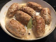 Roladki faszerowane z mięsa mielonego - Blog z apetytem Sausage, Meat, Chicken, Blog, Beef, Sausages, Blogging, Cubs