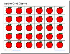 Mama Jenn: Grid Games other games available by clicking here Apple Activities, Infant Activities, Baby Activites, Grid Game, Zoo Phonics, Preschool Boards, Apple Unit, Apple Theme, Occupational Therapy