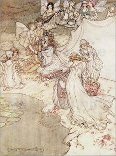 Arthur Rackham - Illustration für ein Märchen auf posterlounge.de