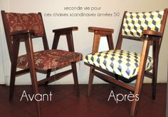 Meubles relook s on pinterest - Chaises vintage scandinave ...