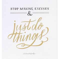 Just do things.