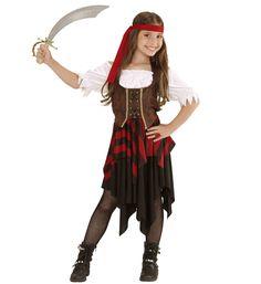feaee2a2 #Barnekostymer - Ekte Sjørøver - Jentekostyme til større barn. Et flott  piratkostyme til jente