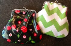Fantastic oil cloth kiss lock pouches...retro but modern all in one...